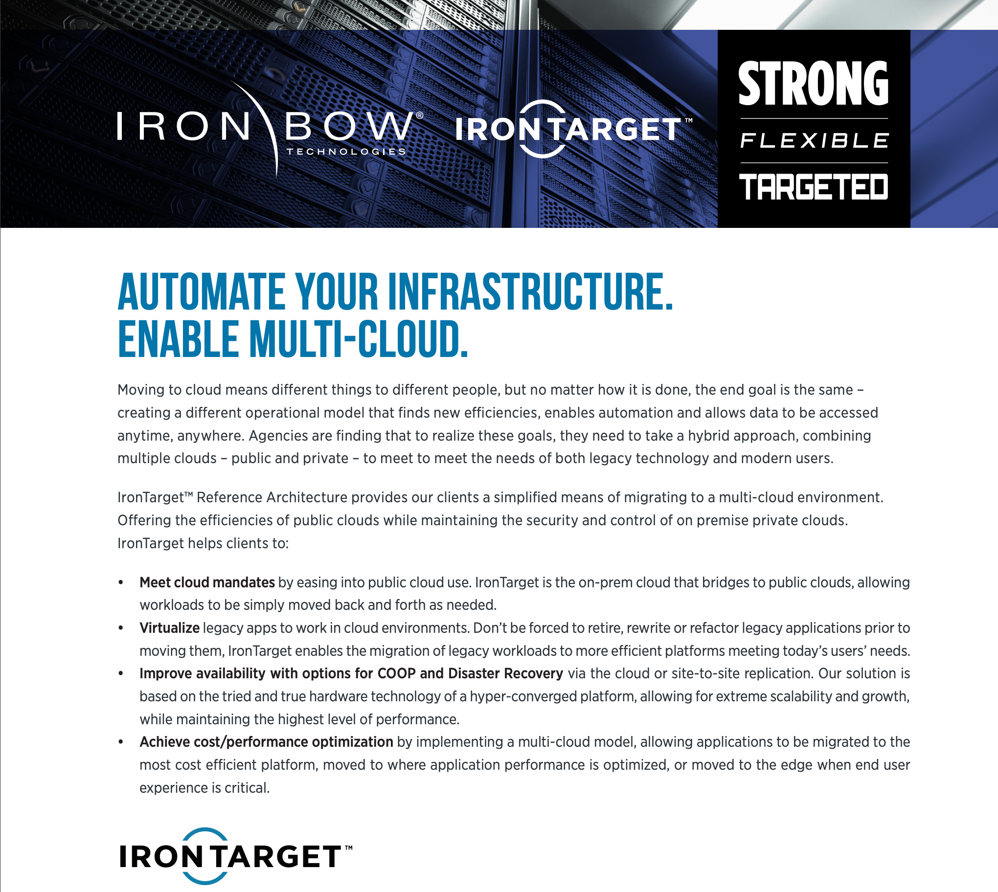 Automate Your Infrastructure. Enable multi-Cloud.