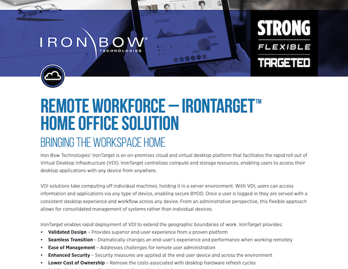 Remote Workforce - IronTarget Home Office Solution